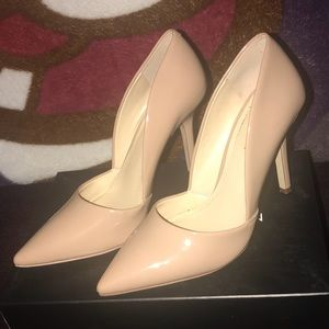 cb78908243c BCBGeneration Shoes - BCBG Damia Nude Beige Patent Heels like D orsay 6